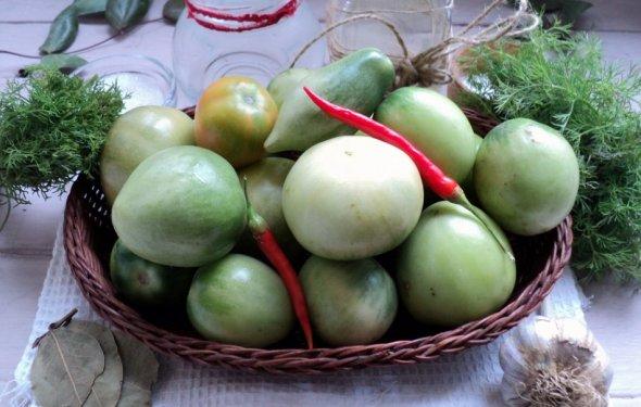 Маринованные зеленые помидоры