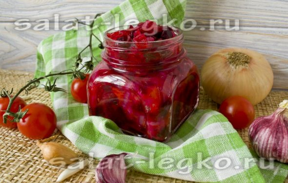 Салаты из помидор на зиму