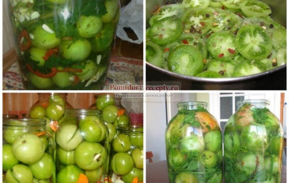 Засолка зеленых помидор: